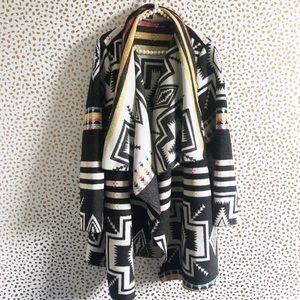 Lane Bryant Tribal Print Boho Wool Coat